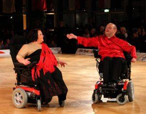Bild:ABiMV/CS Die Rollstuhltänzer, Claudia Wolff und Christian Schad, aus dem Behindertenverband Neubrandeburg e.V. tanzen um den Weltmeistertitel in Minsk