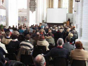 Bild: R. Schwenk/ABiMV/ Feierstunde am 27. Januar 2009 in der St. Nikolaikirche Rostock